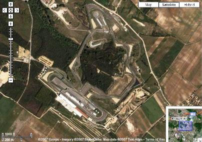 Hungaroring no Google Maps by Romario Jr