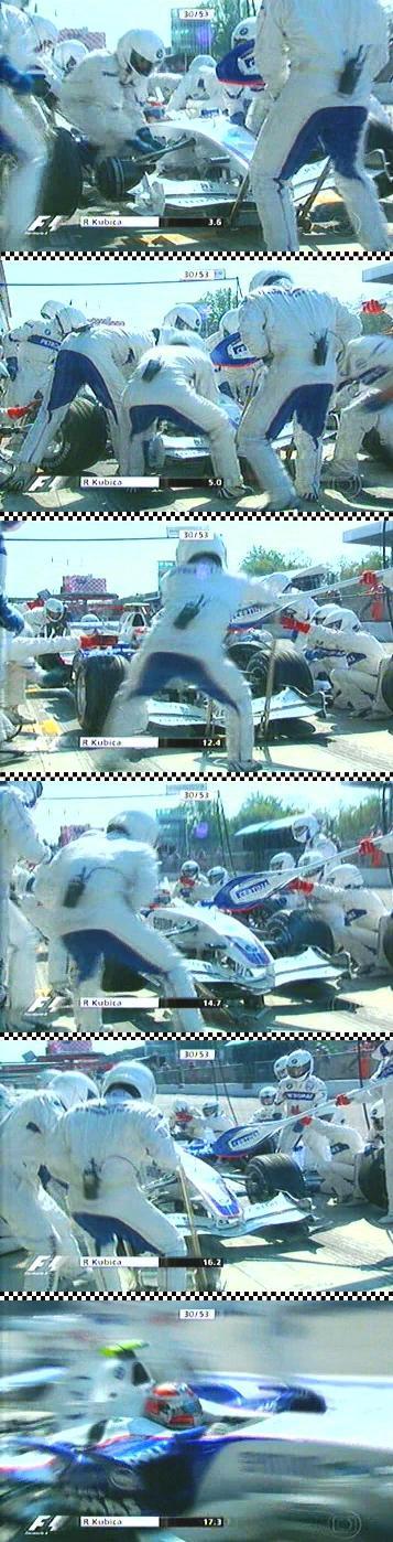 Pit stop Kubica no GP Itália 2007 - SS by RomárioJr.